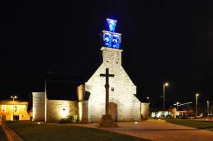 L'église Saint Tugdual de nuit