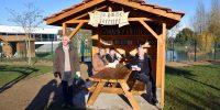 Les élus visitent les installations de l'aire de loisirs du bourg